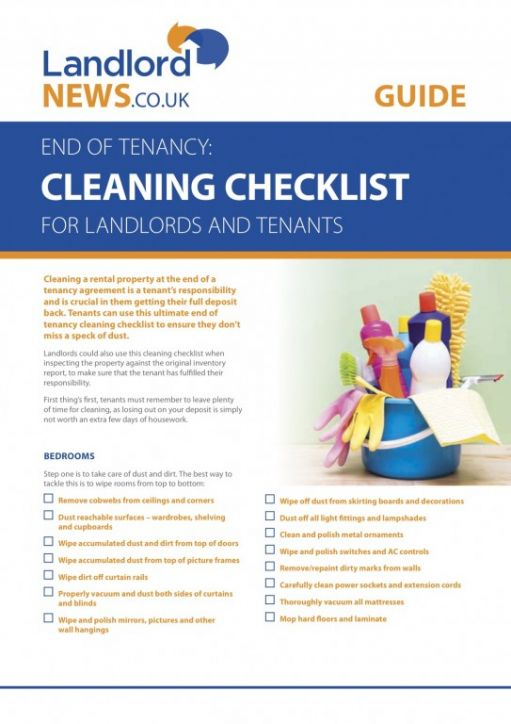 Landlords and Tenants Get the Ultimate Cleaning Checklist for your Property