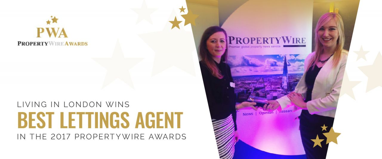 Living in London wins 'Best Lettings Agent 2017' in the Propertywire Awards