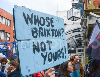 "Trouble at ""Reclaim Brixton"" march"