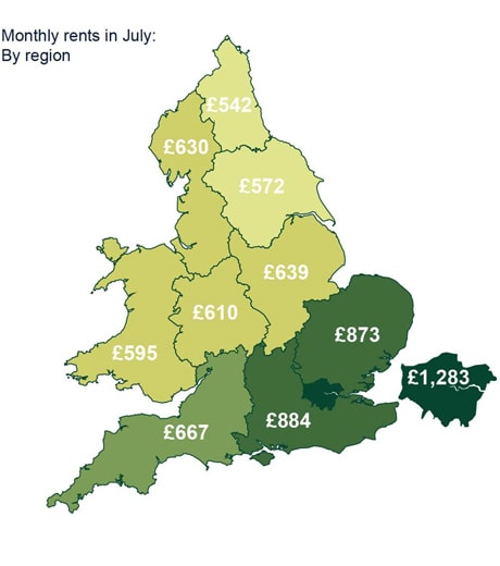 Housing shortage drives up rents in England and Wales