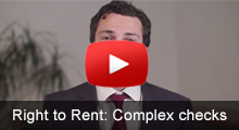 How to deal with complex Right to Rent checks